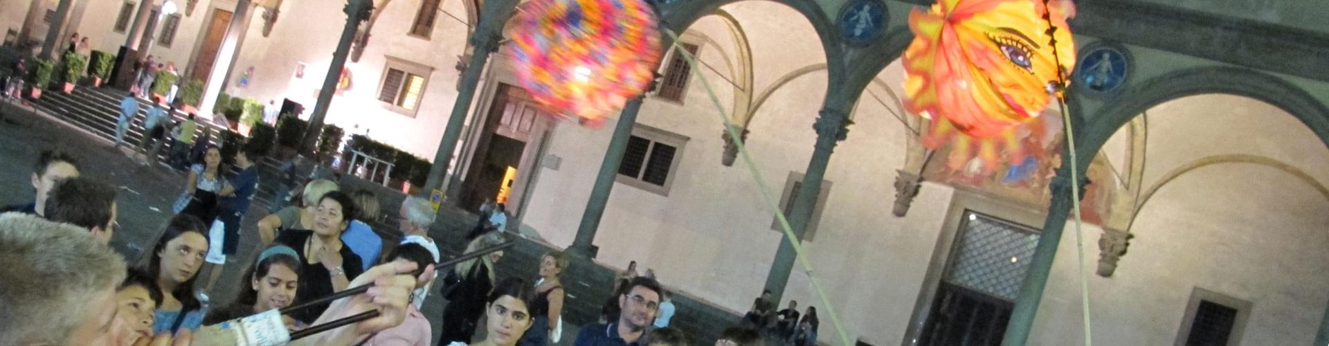 Festival of the lanterns, tuscan festivals, florence events, Festa della Rificolona